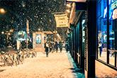 New York gyönyörű havas fotókon